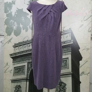 Adrianna Pappell Purple Dress Size 12